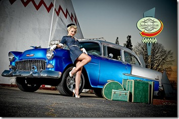 Catherine Jones and Boudoir Louisville - Wigwam Village - Cave City - Pinup Girl - 55 Chevy-9